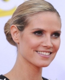 Heidi Klum's Sophisticated Bun Hairstyle