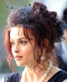 Helena Bonham Carter's Loose Updo with Mesh Bow