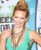 Hilary Duff's Textured Updo