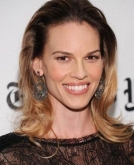 Hilary Swank's Brushed-back 'do