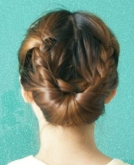 my new chic braided updo haircut