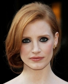 Jessica Chastain's Elegant Rolled-Under Updo