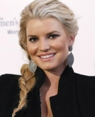 Jessica Simpson's Big Side Braid Hairstyle