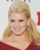 Jessica Simpson's  half up, half down hairstyle