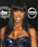 Kelly Rowland's Long Straight Locks with Blunt Bangs