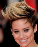 Kimberly Wyatt's Layered Striaght Updo