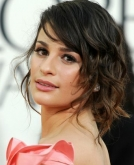 Lea Michelle's Curly Updo with Loose Ringlets