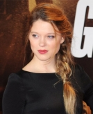 Lea Seydoux Rocks Chic, Messy Side Braid