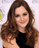 Leighton Meester's Brunette Long Waves