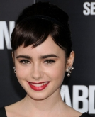 Lily Collins' Audery Hurburn-Inspired Updo