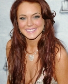 Lindsay Lohan's Long Red Hairstyle