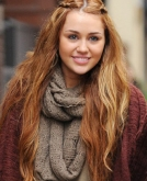 Miley Cyrus' Cute Braided Hairstyle