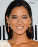 Olivia Munn's Slicked-Back Shoulder-Length Hair