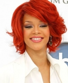 Rihanna's Red Bob Hairstyle