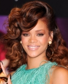 Rihanna's Large Voluminous Curls