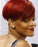 summer 2010 Rihanna Red Hair