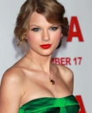Taylor Swift's Romantic Wavy Updo Hairstyle