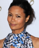 Thandie Newton's Messy Updo Hairstyle