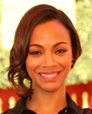 Zoe Saldana's Loose Sweet Side Bun