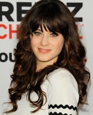 Zooey Deschanel's Sweet Long Curly Hairstyle