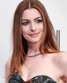 Anne Hathaway's Center-parted Long Straight Hair