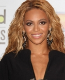 Beyonce's Tousled, Long Wavy Hairstyle