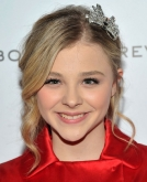 Chloe Moretz's Loose Curly Bun With Butterfly Hair Clip
