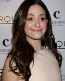 Emmy Rossum's Sexy, Center-parted Long Waves
