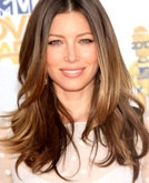 Jessica Biel's Beautiful Long Layered Wavy Hairstyle