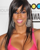 Kelly Rowland's Brunette Long Straight Hair