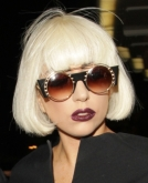 Lady Gaga's Platinum Blonde Short Bob Hairstyle