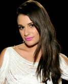 Lea Michele's Side-Swept Wavy Hairstyle