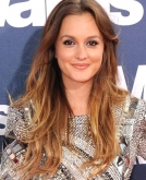 Leighton Meester's Ombre Tousled Wavy Hairstyle