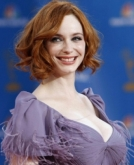 Christina Hendricks Curly Bob