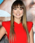 Olivia Wilde's Long, Sleek Straight Hairstyle with Bangs