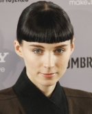 Rooney Mara's Short Ponytail with Blunt Bangs