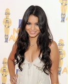 Vanessa Hudgens's Black Long Curly Hairstyle