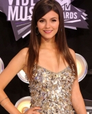 Victoria Justice's Long, Layered Straight Hairstyle
