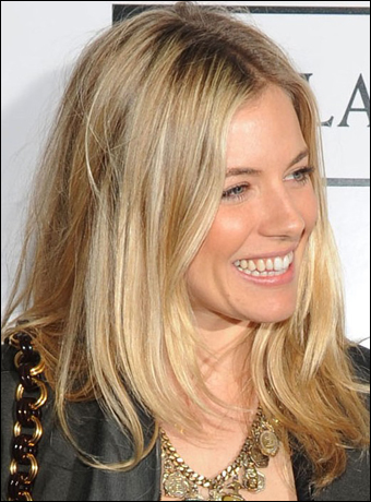 Sienna Miller one of the red hot hair icons is no exception