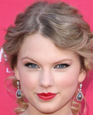Taylor Swift Elegant Curly Half Up Half Down Hairstyle at ACMs 2009