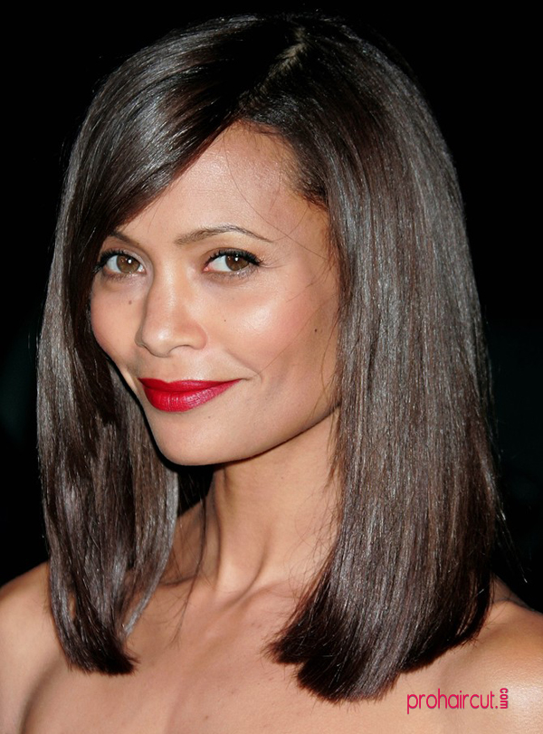 ... balm on long bobs, like Thandie Newton's, to make ends piece-y