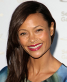 Thandie Newton's Side-parted Long Hairstyle