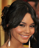 Vanessa Hudgens Low Chignon Knotted Hairstyle at Oscars 2009