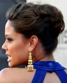 Vanessa Minnillo's Pulled-back Updo Hairstyle