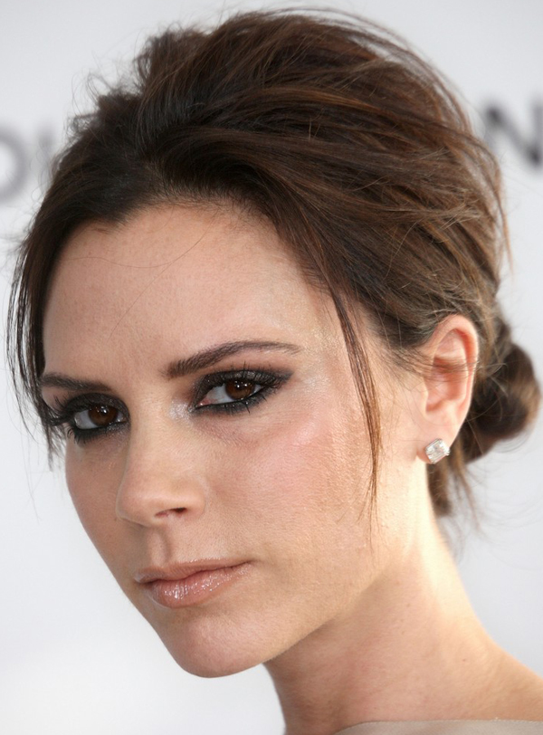 low maintenance hairstyles for fine hair : Victoria Beckham wearing low bun hairstyle at the 2010 Oscars After ...