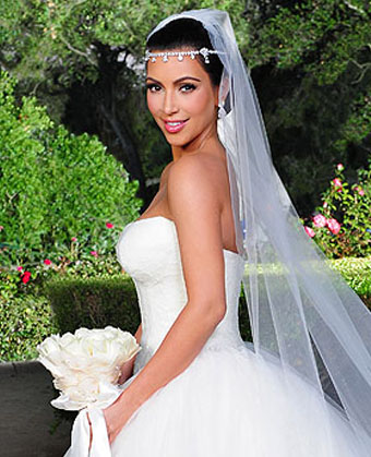 Kim Kardashian's Wedding Hairstyle