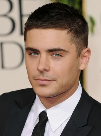 Zac Efron's Buzz Cut at 2011 Golden Global Awards