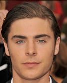 Zac Efron Sleek Pulled Back Hairstyle at Oscars 2009
