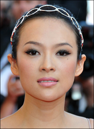 Zhang Ziyi Elegant Updo Hairstyle With Hair Band