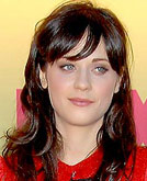 Zooey Deschanel Curly Hairstyle